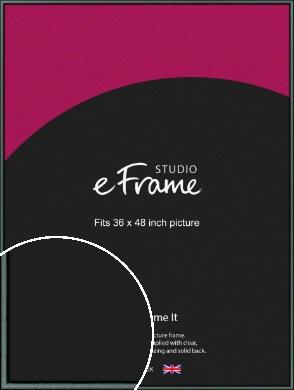 Brushed Satin Black Picture Frame, 36x48