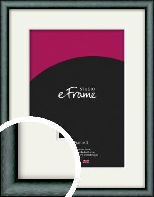 Brushed Satin Black Picture Frame & Mount (VRMP-A054-M)