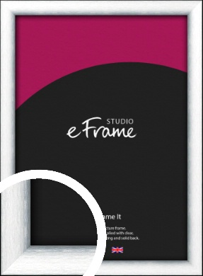 Curved Bevel Silver Picture Frame (VRMP-A052)
