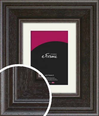 Ridged Earthy Brown Picture Frame & Mount (VRMP-968-M)