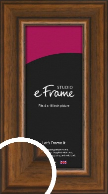 Traditional Walnut Effect Brown Picture Frame, 4x10