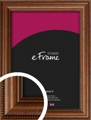 Carved Beaded Edge Brown Picture Frame (VRMP-297)