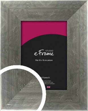 Hammered Silver Picture Frame, 10x15cm (4x6