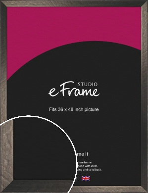 Wide Hammered Bronze / Copper Picture Frame, 36x48