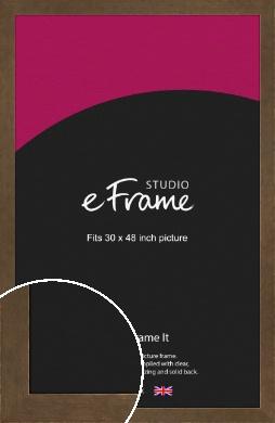 Utilitarian Bronze / Copper Picture Frame, 30x48