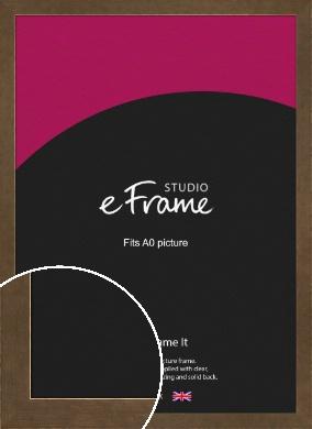 Utilitarian Bronze / Copper Picture Frame, A0 (841x1189mm) (VRMP-970-A0)