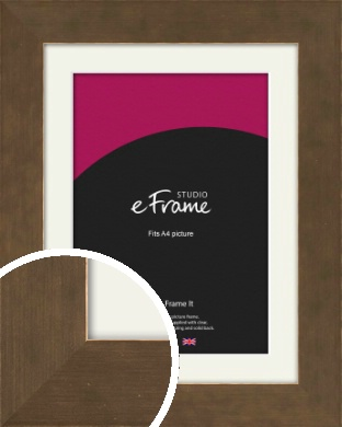 Utilitarian Bronze / Copper Picture Frame & Mount, A4 (210x297mm) (VRMP-970-M-A4)