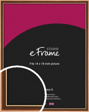 Gentle Curve Victorian Brown Picture Frame, 14x18