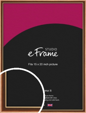 Gentle Curve Victorian Brown Picture Frame, 15x20