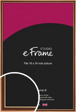 Gentle Curve Victorian Brown Picture Frame, 16x24