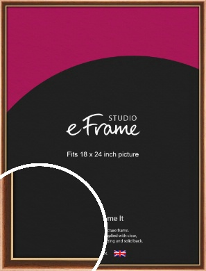 Gentle Curve Victorian Brown Picture Frame, 18x24