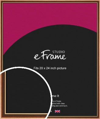 Gentle Curve Victorian Brown Picture Frame, 20x24