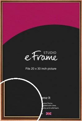 Gentle Curve Victorian Brown Picture Frame, 20x30