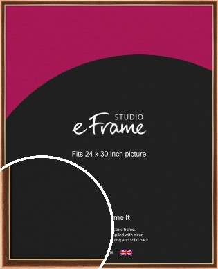 Gentle Curve Victorian Brown Picture Frame, 24x30