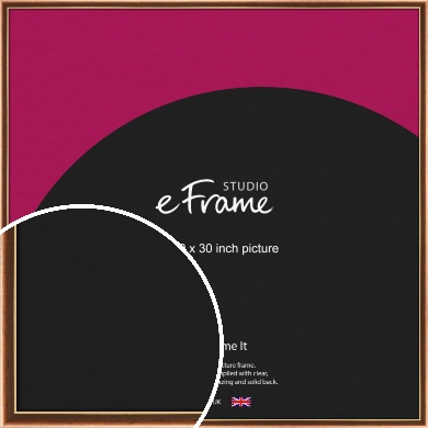 Gentle Curve Victorian Brown Picture Frame, 30x30