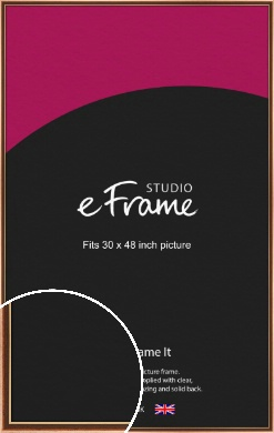 Gentle Curve Victorian Brown Picture Frame, 30x48