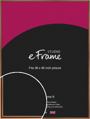 Gentle Curve Victorian Brown Picture Frame, 36x48