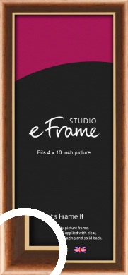 Gentle Curve Victorian Brown Picture Frame, 4x10