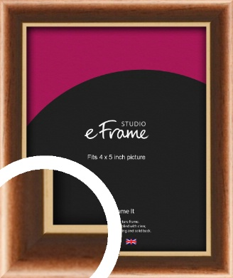 Gentle Curve Victorian Brown Picture Frame, 4x5