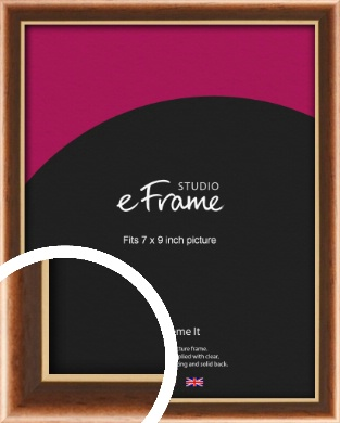 Gentle Curve Victorian Brown Picture Frame, 7x9
