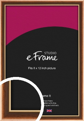 Gentle Curve Victorian Brown Picture Frame, 8x12