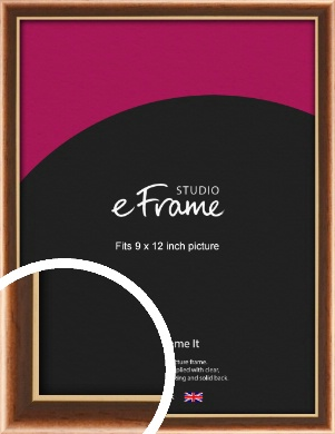Gentle Curve Victorian Brown Picture Frame, 9x12
