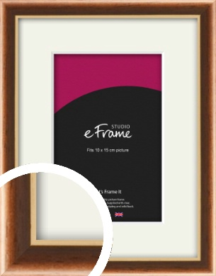 Gentle Curve Victorian Brown Picture Frame & Mount, 10x15cm (4x6