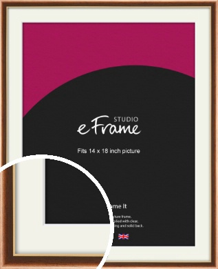 Gentle Curve Victorian Brown Picture Frame & Mount, 14x18