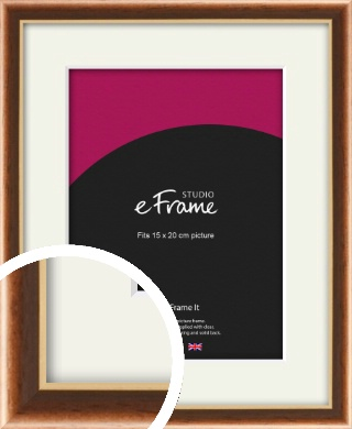 Gentle Curve Victorian Brown Picture Frame & Mount, 15x20cm (6x8
