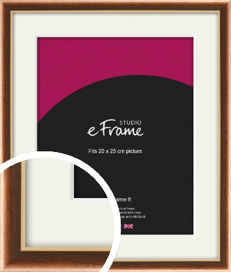 Gentle Curve Victorian Brown Picture Frame & Mount, 20x25cm (8x10