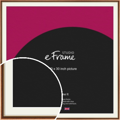 Gentle Curve Victorian Brown Picture Frame & Mount, 30x30
