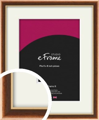 Gentle Curve Victorian Brown Picture Frame & Mount, 6x8