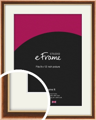 Gentle Curve Victorian Brown Picture Frame & Mount, 9x12