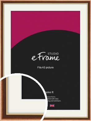 Gentle Curve Victorian Brown Picture Frame & Mount, A3 (297x420mm) (VRMP-162-M-A3)