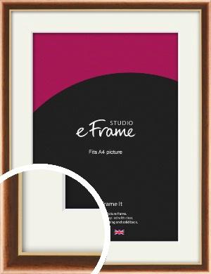Gentle Curve Victorian Brown Picture Frame & Mount, A4 (210x297mm) (VRMP-162-M-A4)