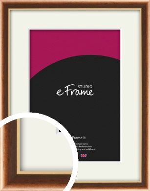 Gentle Curve Victorian Brown Picture Frame & Mount (VRMP-162-M)