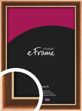Gentle Curve Victorian Brown Picture Frame (VRMP-162)