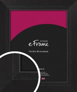 Elegant Bevelled Black Picture Frame, 24x30cm (VRMP-579-24x30cm)