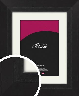Elegant Bevelled Black Picture Frame & Mount (VRMP-579-M)