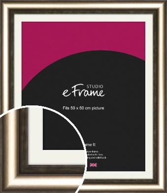 Classic Bronze / Copper Picture Frame & Mount, 50x60cm (VRMP-980-M-50x60cm)