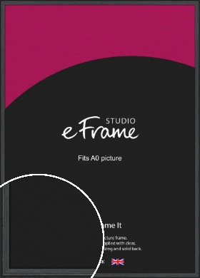 Dramatic Grey Picture Frame, A0 (841x1189mm) (VRMP-986-A0)
