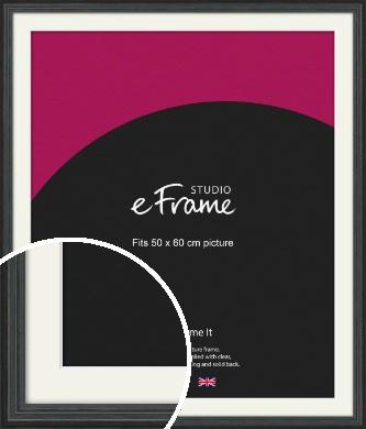 Dramatic Grey Picture Frame & Mount, 50x60cm (VRMP-986-M-50x60cm)