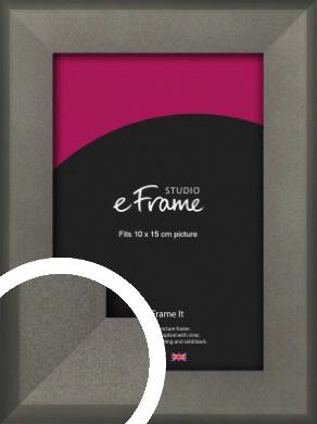 Graphite Grey Picture Frame, 10x15cm (4x6