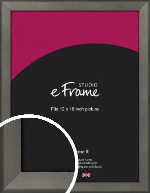 Graphite Grey Picture Frame, 12x16