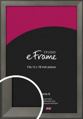 Graphite Grey Picture Frame, 12x18
