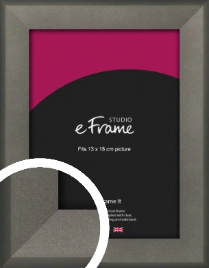 Graphite Grey Picture Frame, 13x18cm (5x7