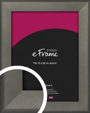 Graphite Grey Picture Frame, 15x20cm (6x8