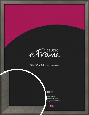 Graphite Grey Picture Frame, 18x24