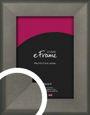 Graphite Grey Picture Frame, 3.5x5