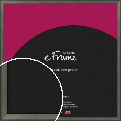 Graphite Grey Picture Frame, 30x30
